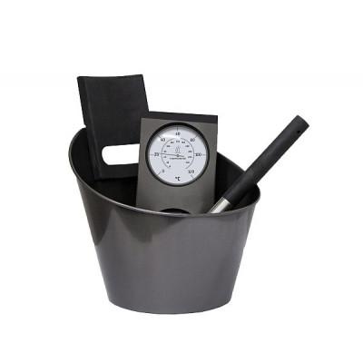 Набор аксессуаров для сауны (черный)